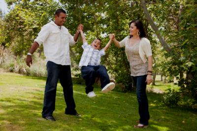 family-park-swinging-boy